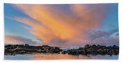 Dawn Of Cloud At North Jetty Bath Towel
