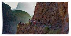 Dawn On Bright Angel Trail Hand Towel