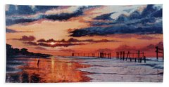 Dawn On Crystal Beach Hand Towel