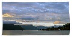 Dawn On Sognefjorden Bath Towel