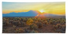 Dawn Over Magic Taos Mountain Bath Towel