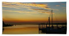 Dawn Over The Bay Hand Towel