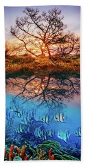 Hand Towel featuring the photograph Dawn Over The Reef by Debra and Dave Vanderlaan