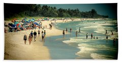 Bath Towel featuring the photograph Day At The Beach by Rosalie Scanlon