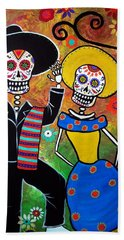 Day Of The Dead Bailar Bath Towel