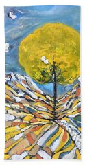 Bath Towel featuring the painting Daybreak by Evelina Popilian
