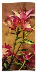 Dayliliys In  Guilford , Conn Bath Towel
