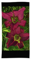 Hand Towel featuring the photograph Daylillys 1 by David Pantuso