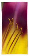 Daylily Abstract Bath Towel