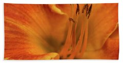Bath Towel featuring the photograph Daylily Close-up by Sandy Keeton