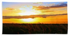 Hand Towel featuring the photograph Day's End by DJ Florek
