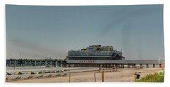Daytona Beach Pier Pano Hand Towel