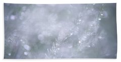 Hand Towel featuring the photograph Dazzling Silver World by Jenny Rainbow