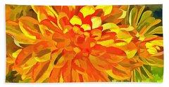 Dazzling Succulent Hand Towel by Linda Weinstock