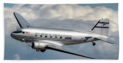 Dc-3 Bath Towel by Jeff Cook