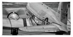 Dc3 Taxiing For Departure Bath Towel