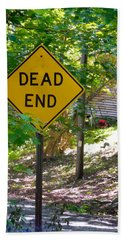 Dead End Road Sigh Hand Towel