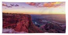 Bath Towel featuring the photograph Dead Horse Point Sunset by Darren White