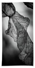 Fragile Leaf Bw Hand Towel