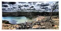 Dead Nature Under Stormy Light In Mediterranean Beach Hand Towel by Pedro Cardona