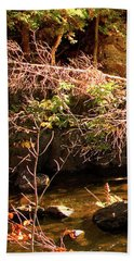 1 Of 6 Dead River Falls  Marquette Michigan Section Bath Towel by Michael Bessler