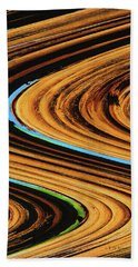 Dead Saguaro Abstract  Bath Towel by Tom Janca