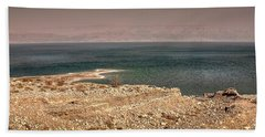 Dead Sea Coastline 1 Hand Towel