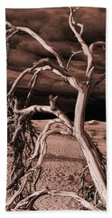 Hand Towel featuring the photograph Dead Tree In Death Valley 15 by Micah May