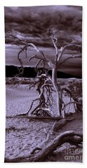 Hand Towel featuring the photograph Dead Tree In Death Valley 6 by Micah May