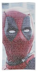 Deadpool Quotes Mosaic Hand Towel