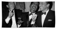 Dean Martin, Sammy Davis Jr. And Frank Sinatra Laughing Bath Towel