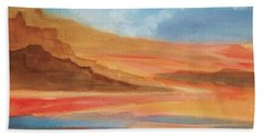 Bath Towel featuring the painting Death Valley by Ellen Levinson