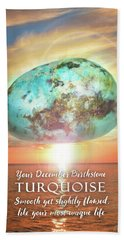 December Birthstone Turquoise Bath Towel by Evie Cook