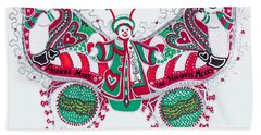 December Butterfly Hand Towel