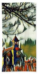 December Country Church Hand Towel