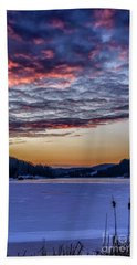 December Dawn On The Lake Hand Towel