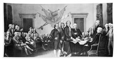 Declaration Of Independence Bath Towel