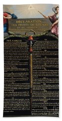 Declaration Of The Rights Of Man And Citizen Bath Towel
