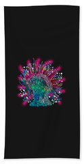 Hand Towel featuring the digital art Deco Anemone by Adria Trail