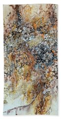 Hand Towel featuring the painting Decomposition  by Joanne Smoley