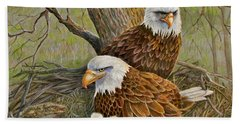 Decorah Eagle Family Hand Towel