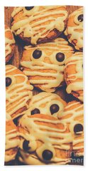 Decorated Shortbread Mummy Cookies Bath Towel