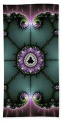 Decorative Fractal Art Purple And Green Hand Towel by Matthias Hauser
