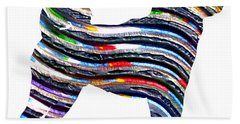 Decorative Husky Abstract O1015b Bath Towel