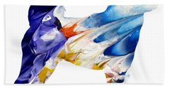 Decorative Husky Abstract O1015c Bath Towel