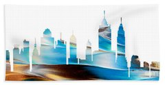 Decorative Skyline Abstract New York P1015a Bath Towel