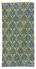 Decorative Pattern With The German Coat Of Arms Bath Towel