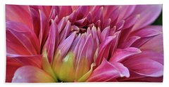 Decorative Pink Dahlia Bath Towel
