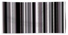 Decorative Stripe - Lavender Gray Bath Towel