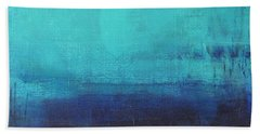 Hand Towel featuring the painting Deep Blue Sea by Nicole Nadeau